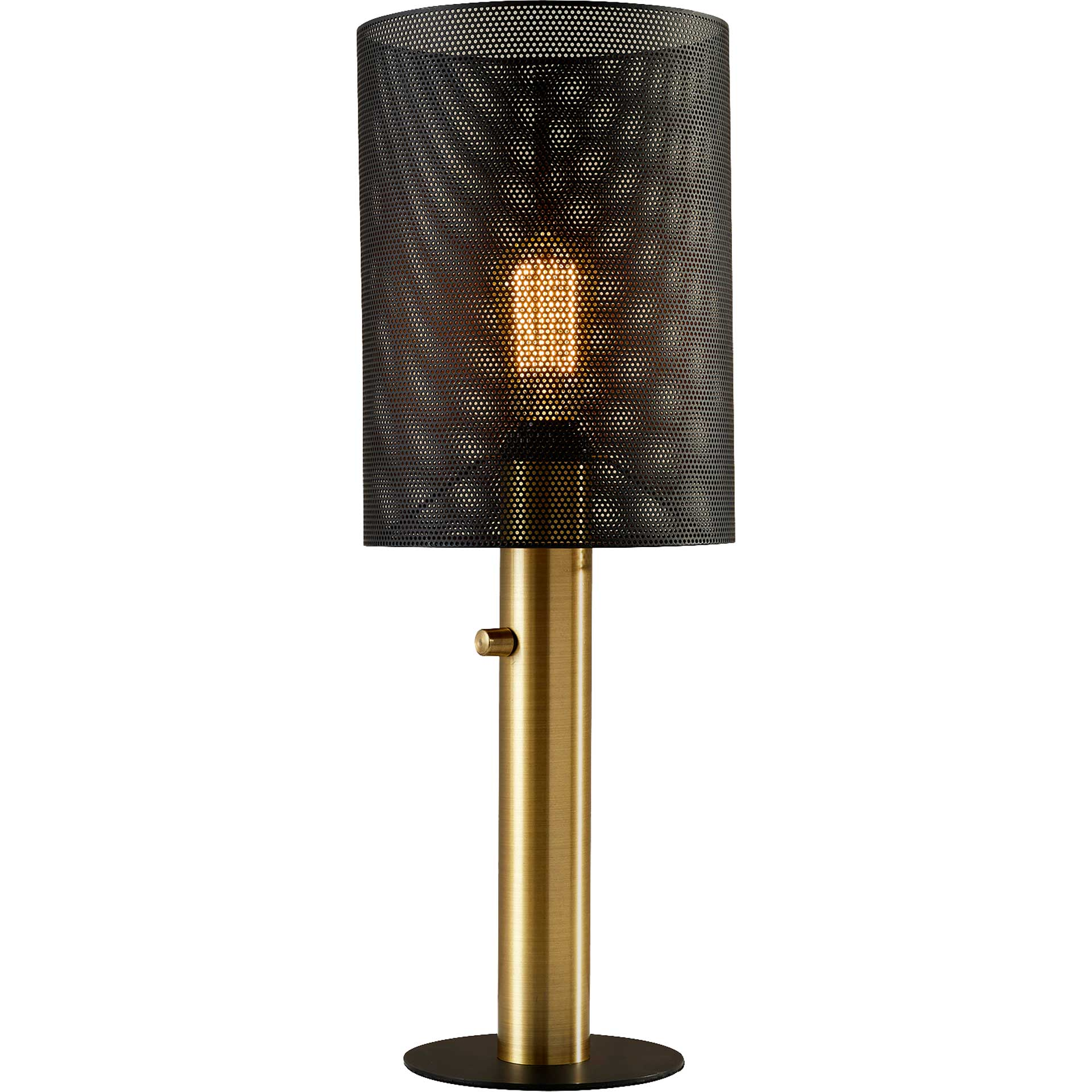 Niort Tall Table Lamp Black/Antique Brass