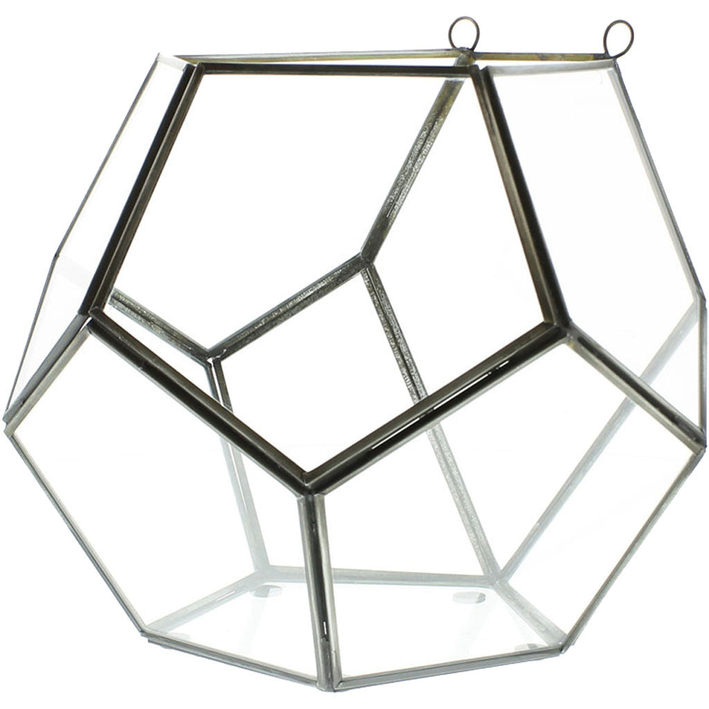 Pollux Leaded Glass Wall Terrarium Dodecahedron