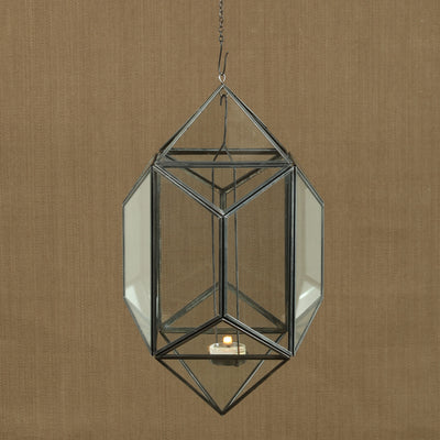 Pollux Hanging Glass Polygon