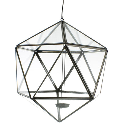 Pollux Hanging Glass Icosahedron