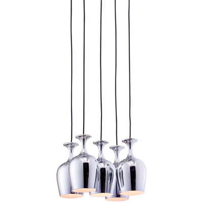 Frozen Ceiling Lamp Chrome