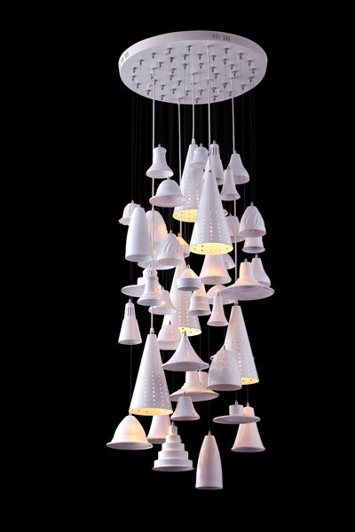 Chimes Ceiling Lamp White