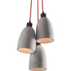 Form Ceiling Lamp Concrete Gray
