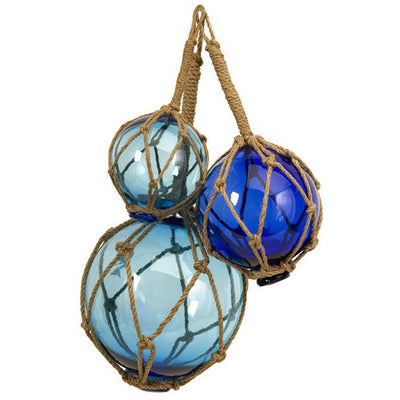 Blue Glass Floats (Set of 3)