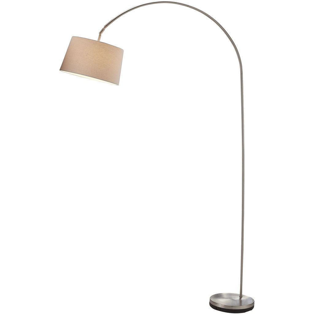 Glasgow Arc Lamp Brushed Steel