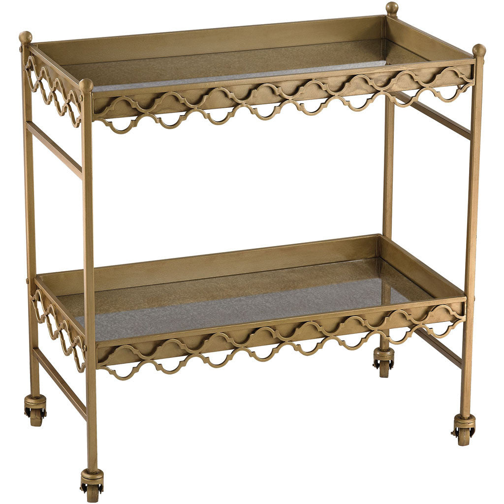 Klein Rectangular Quatrefoil Bar Cart