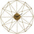 Klein Angular Wirework Wall Clock