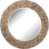 Argon Round Wicker Mirror