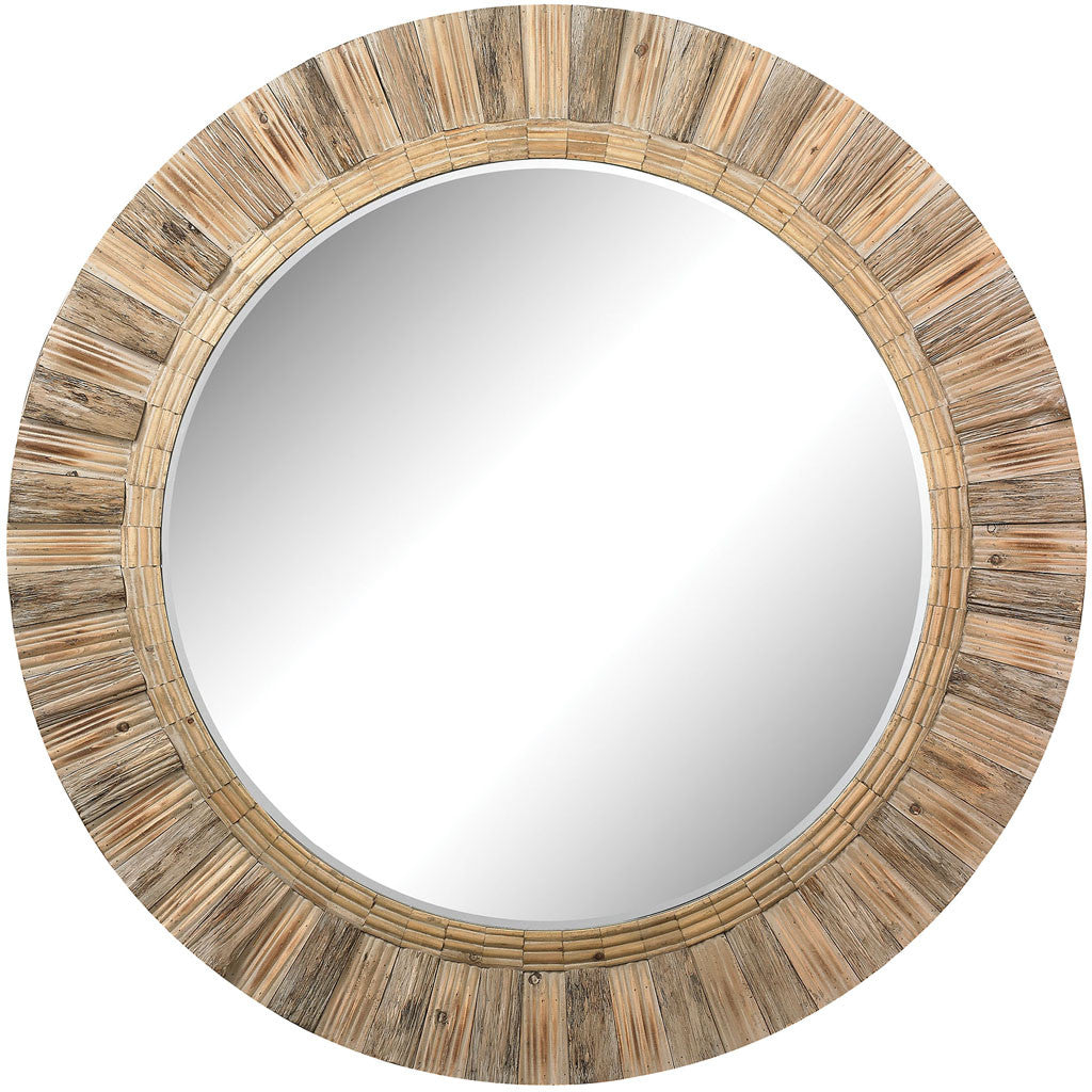 Targon Round Wicker Mirror