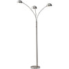 Doral Arc Lamp Brushed Steel