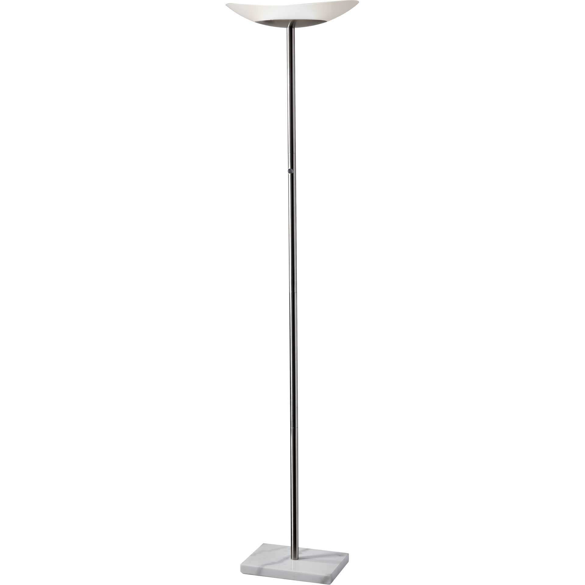Cenon LED Torchiere Brushed Steel