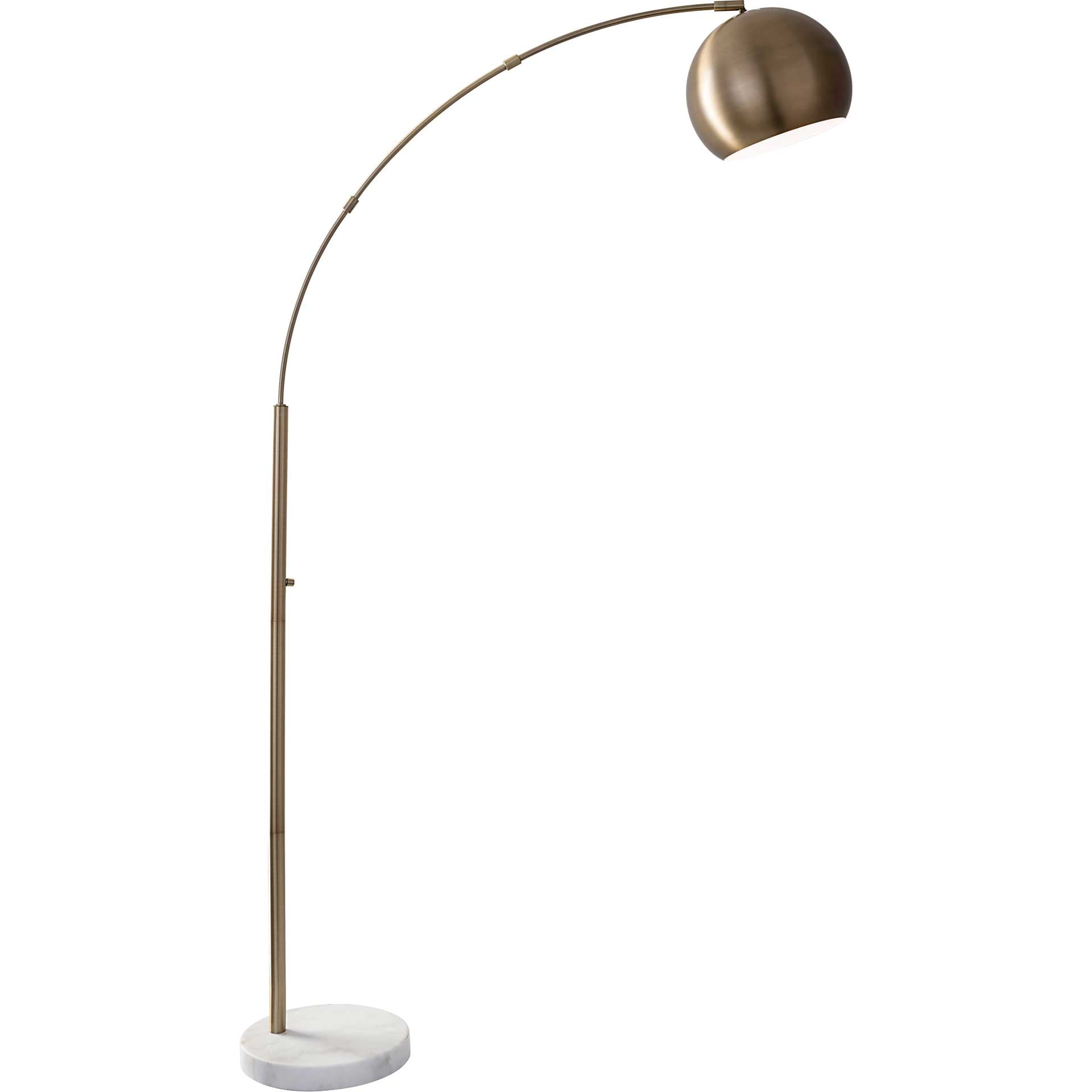 Asheville Arc Lamp Brass
