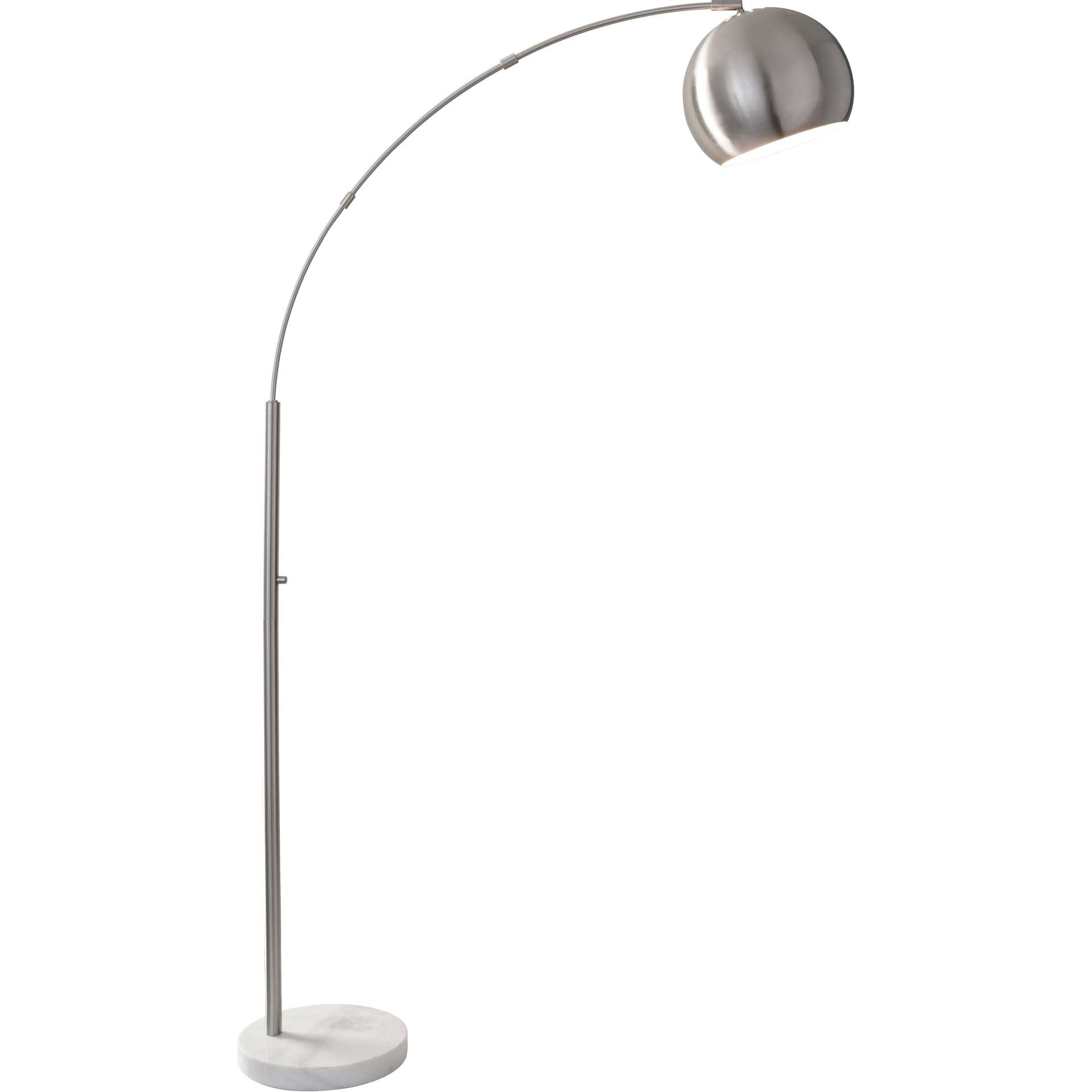 Asheville Arc Lamp Brushed Steel