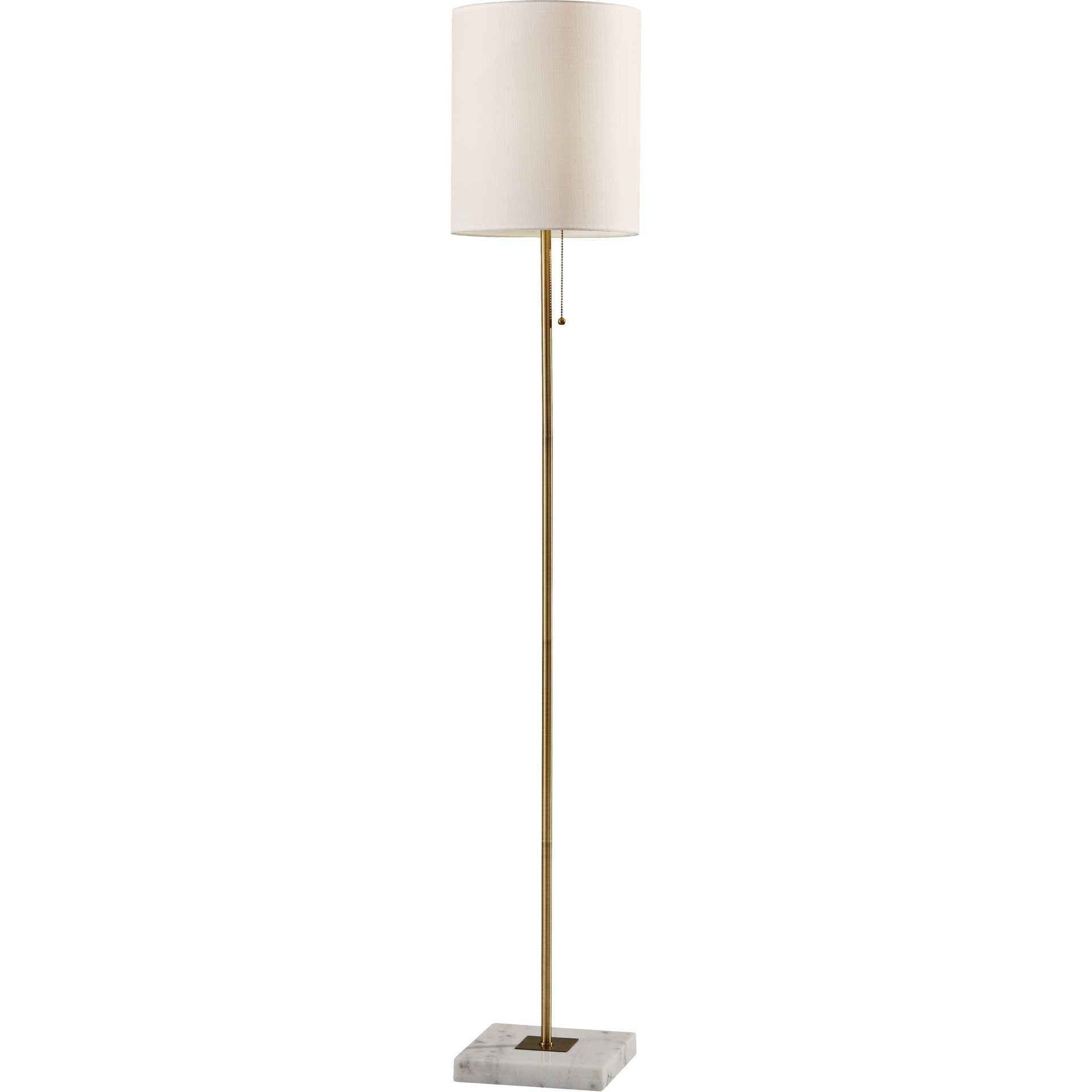 Fife Floor Lamp Antique Brass