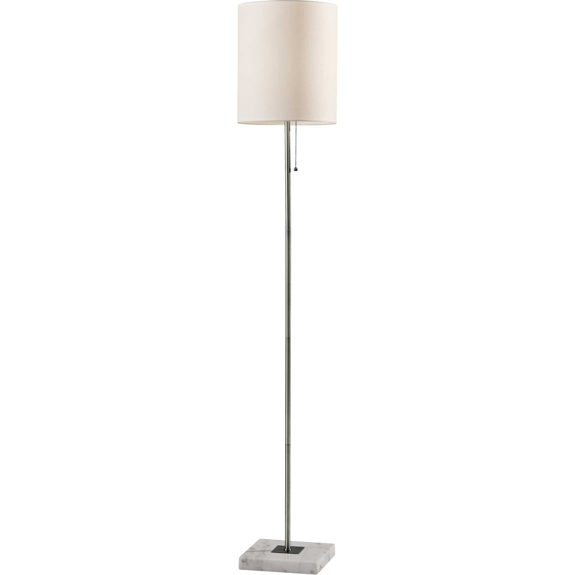 Fife Floor Lamp Brushed Steel