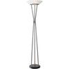 Gemini Floor Lamp Brushed Steel