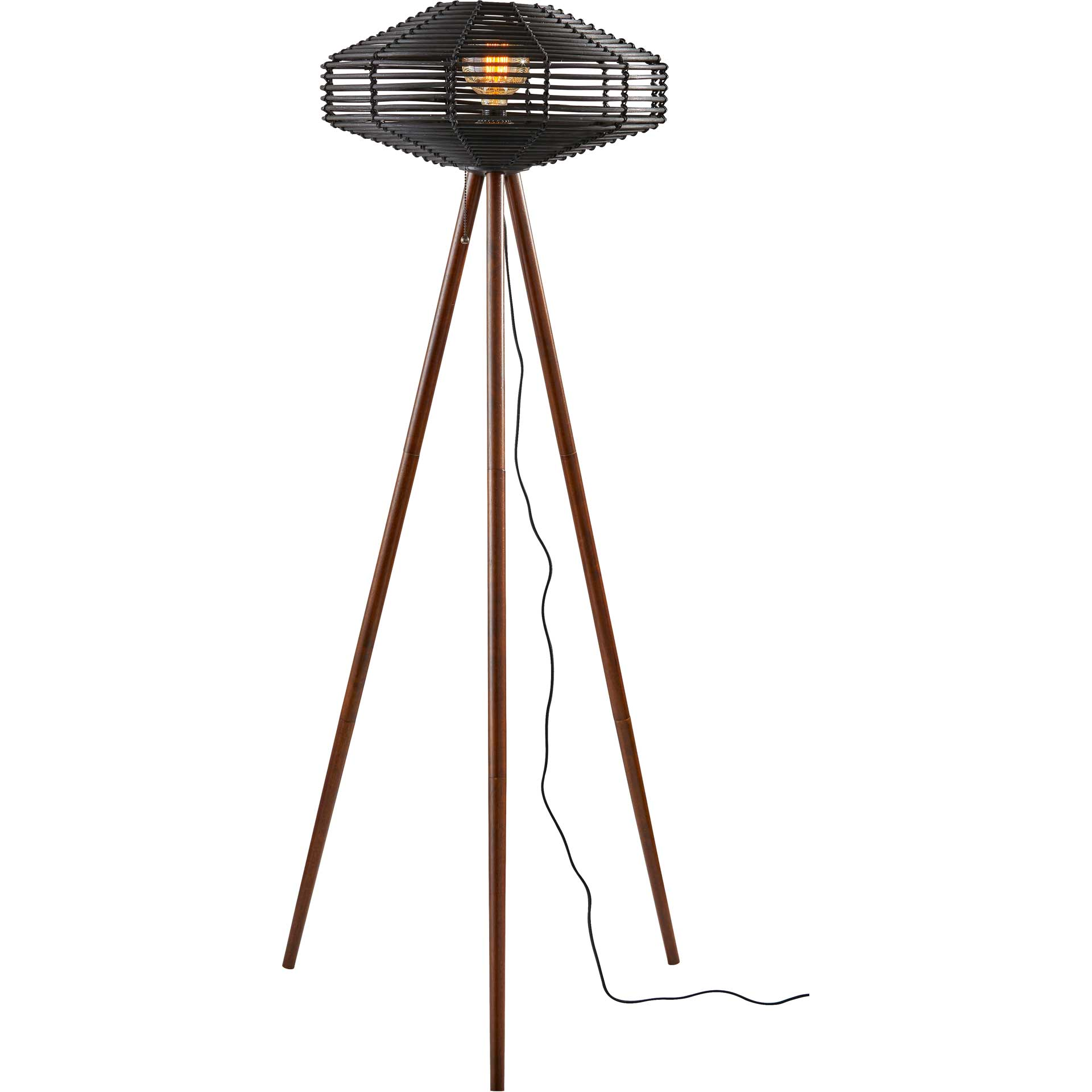 Kinston Floor Lamp Black/Walnut