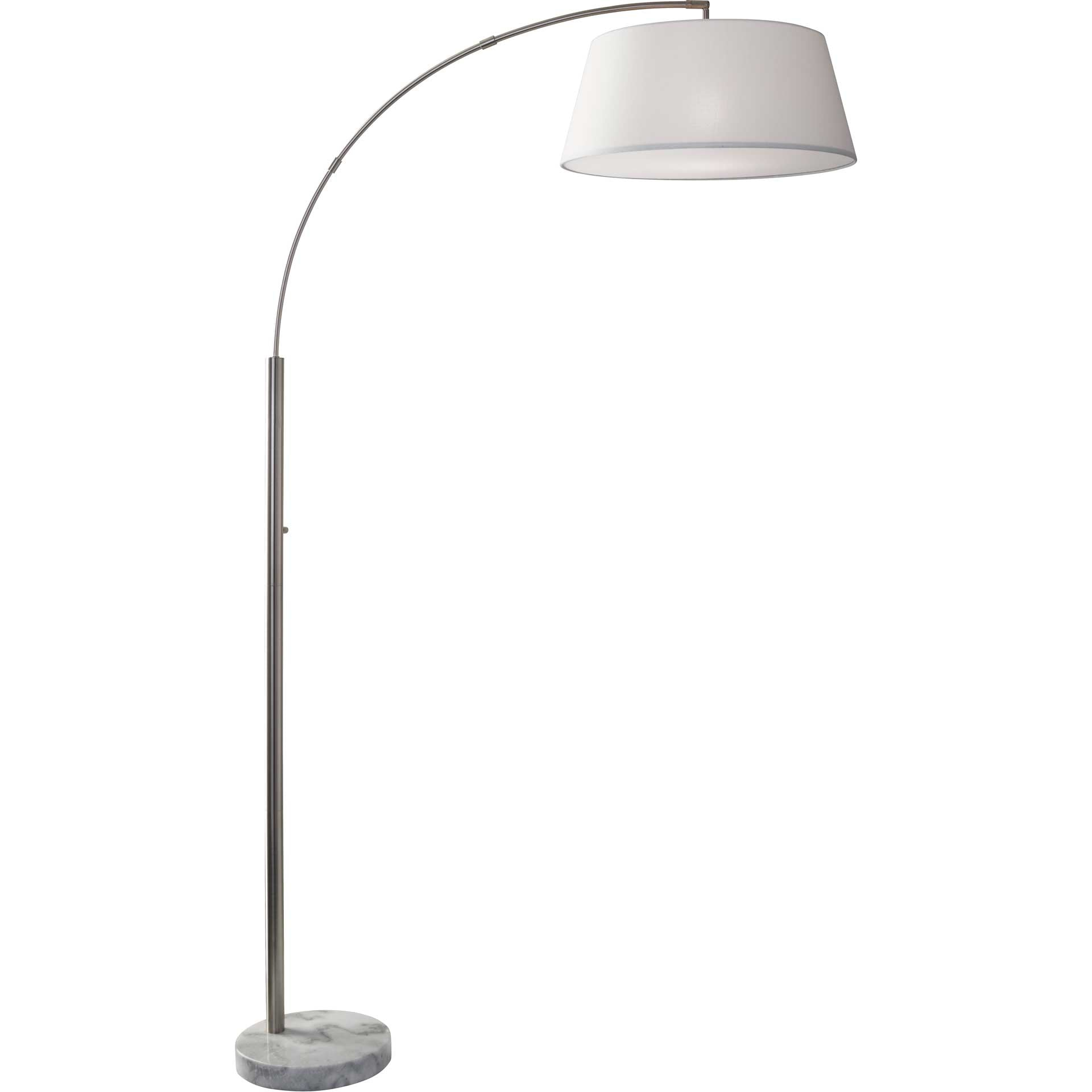 Toulon Arc Lamp Brushed Steel