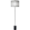 Blane Floor Lamp Gray Tweed