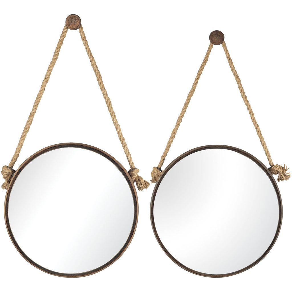 Greenwich Round Mirrors (Set of 2)