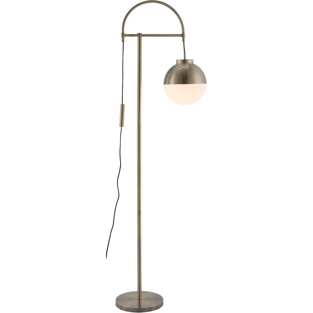 Waverly Floor Lamp White & Brushed Brass