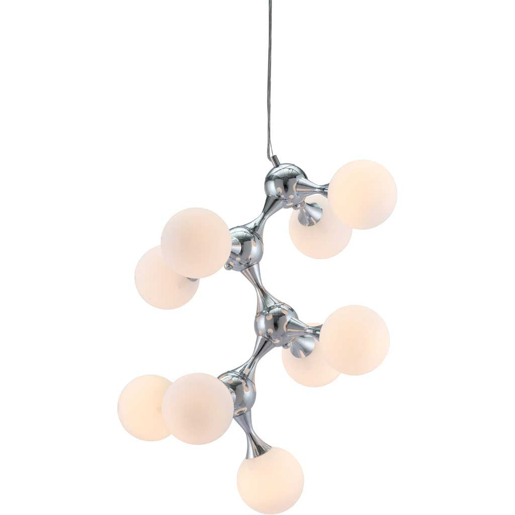 Portola Ceiling Lamp White & Chrome