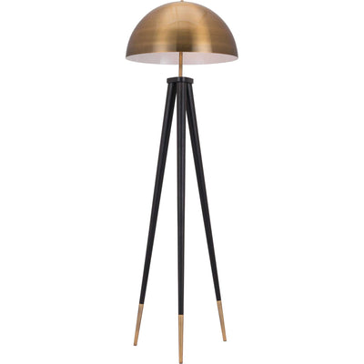 Marcus Floor Lamp Brass/Black
