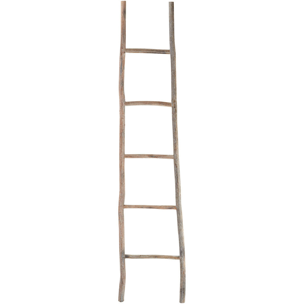 White Washed Wood Ladder Large