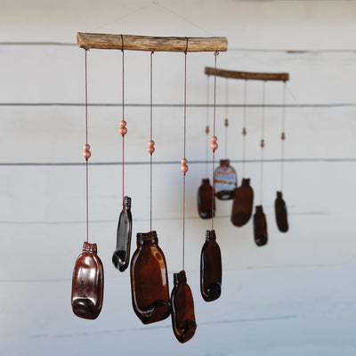 Slumped Glass Bottle Wind Chime