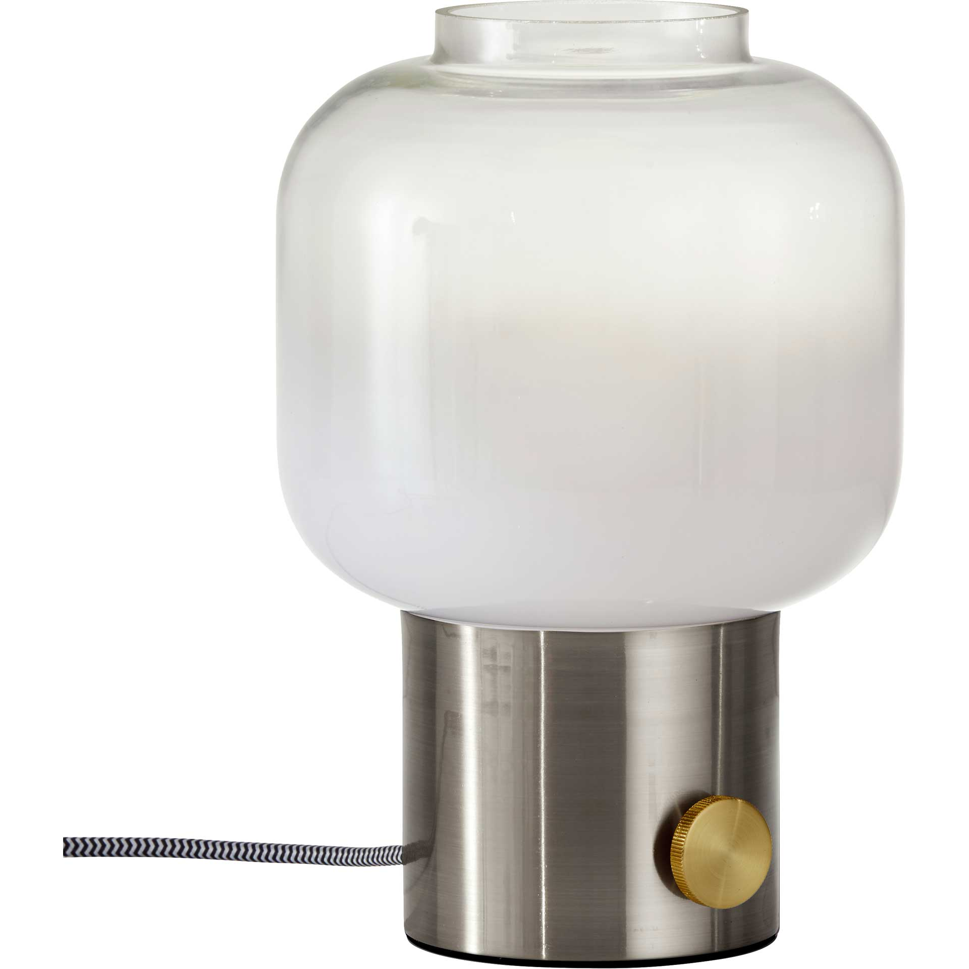 Lens Table Lamp Brushed Steel
