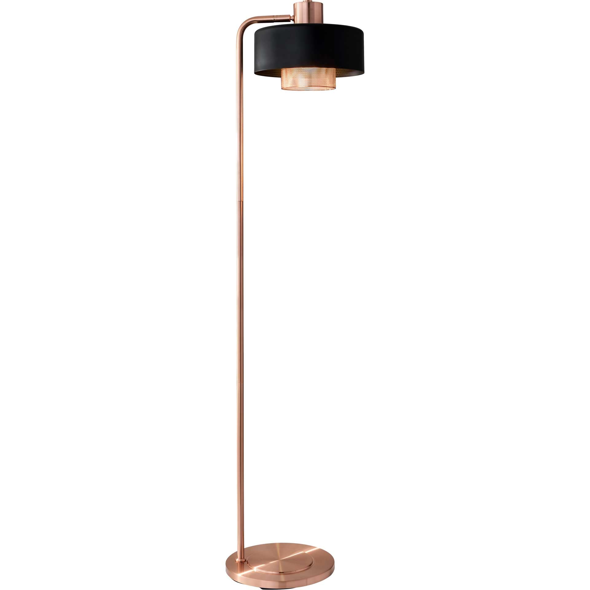 Brondby Floor Lamp Copper/Black