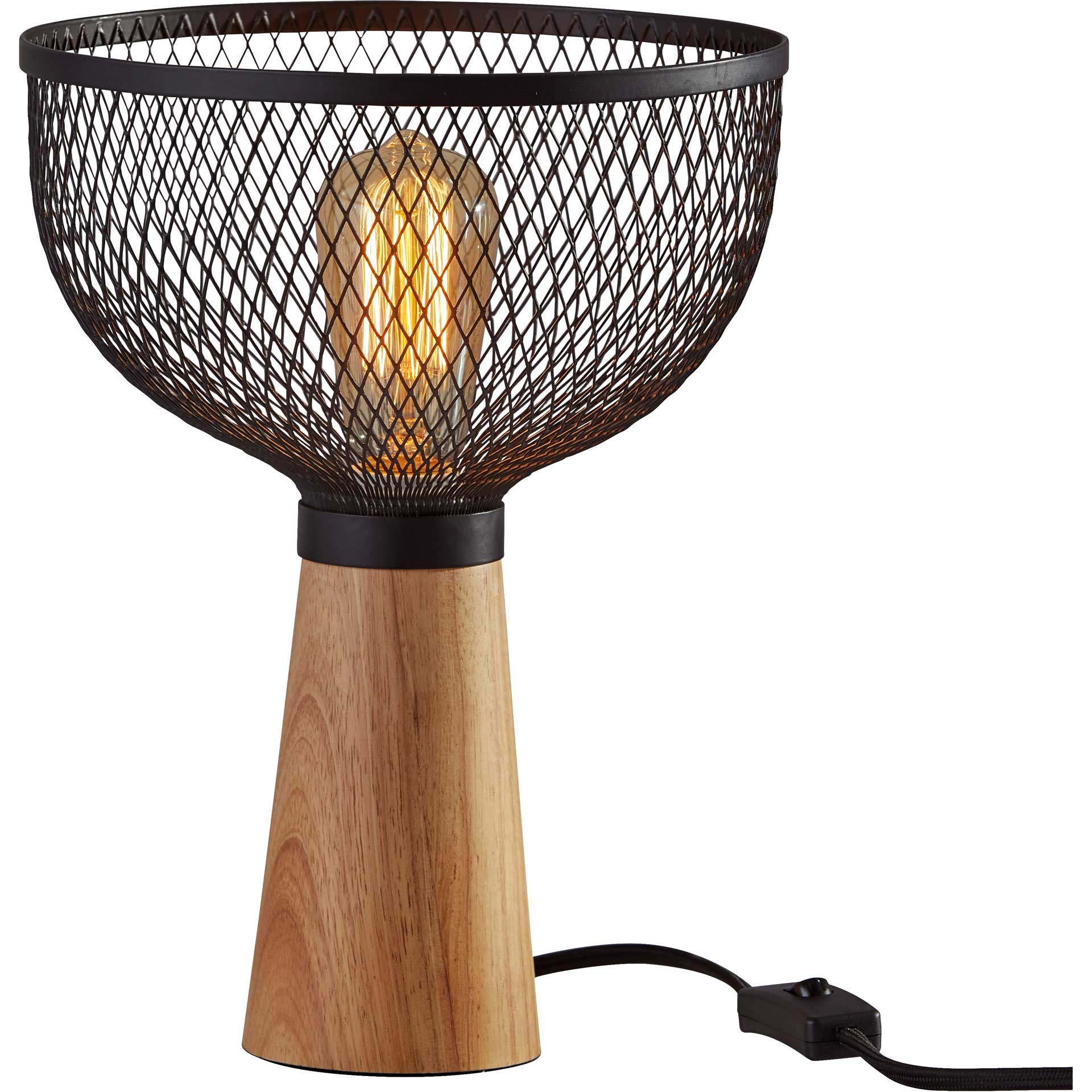 Dammarie Table Lamp Black/Natural