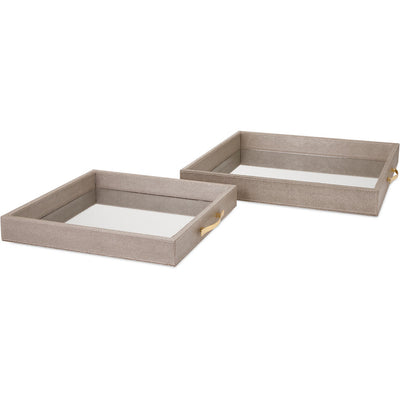Ballard Mirrored Trays (Set of 2)