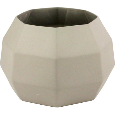 Modern Wide Ceramic Vase Gray