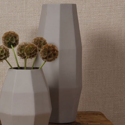Modern Large Ceramic Vase Gray