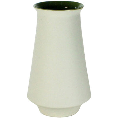 Meadow Ceramic Vase White/Green