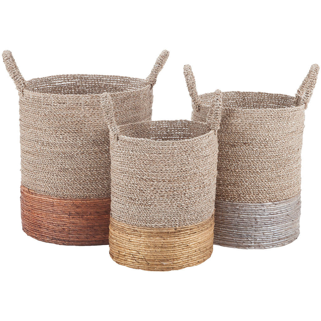 Earthern Woven Baskets (Set of 3)