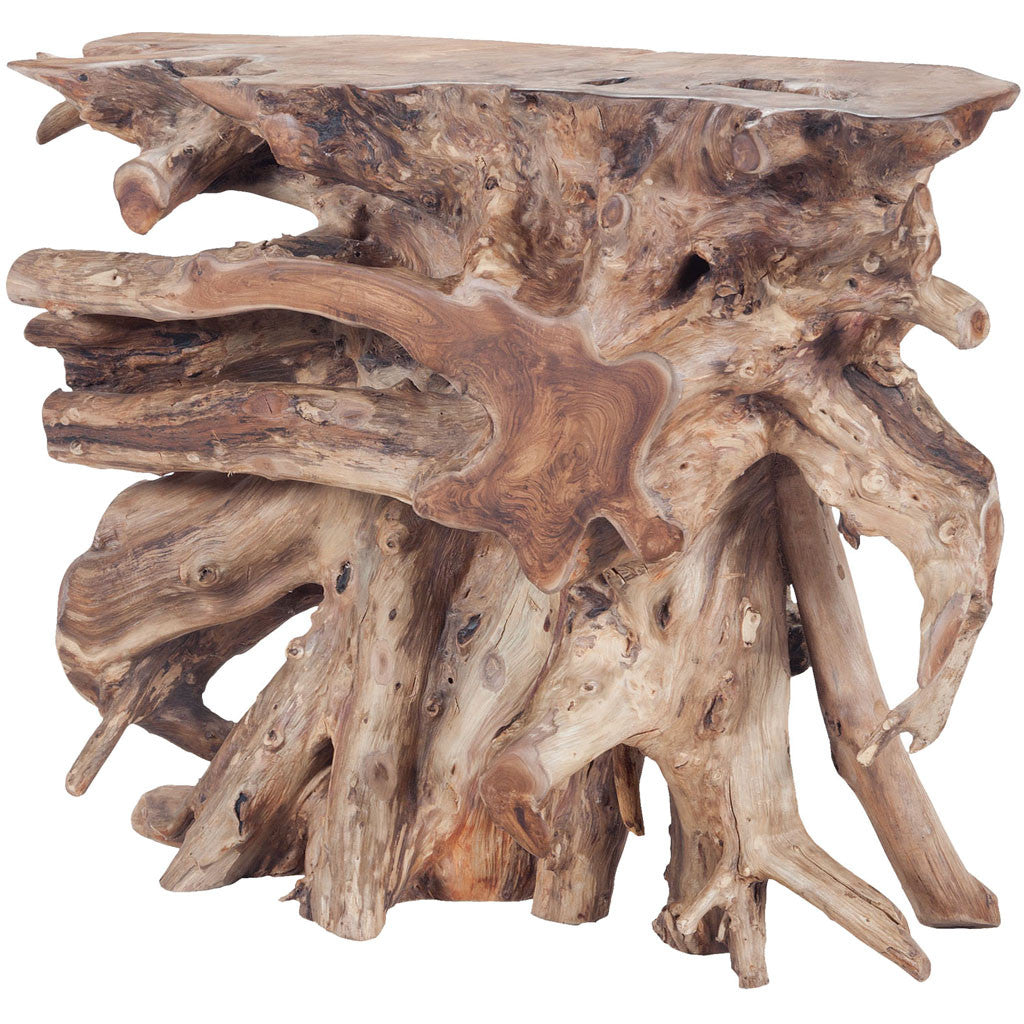 Song Teak Slice Console Natural