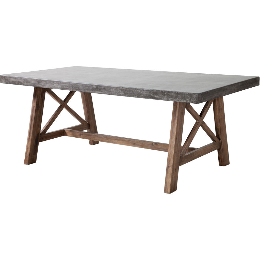 Force Dining Table Cement & Natural