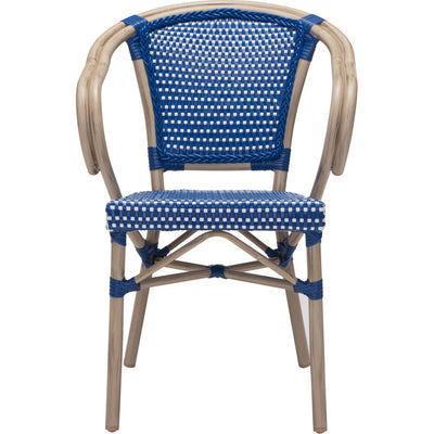 Parisian Dining Arm Chair Navy Blue & White (Set of 2)