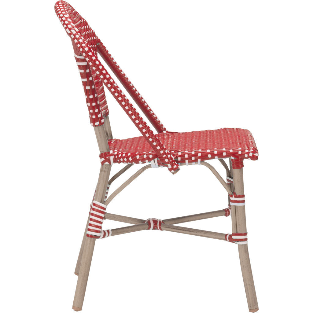 Parisian Dining Chair Red & White (Set of 2)