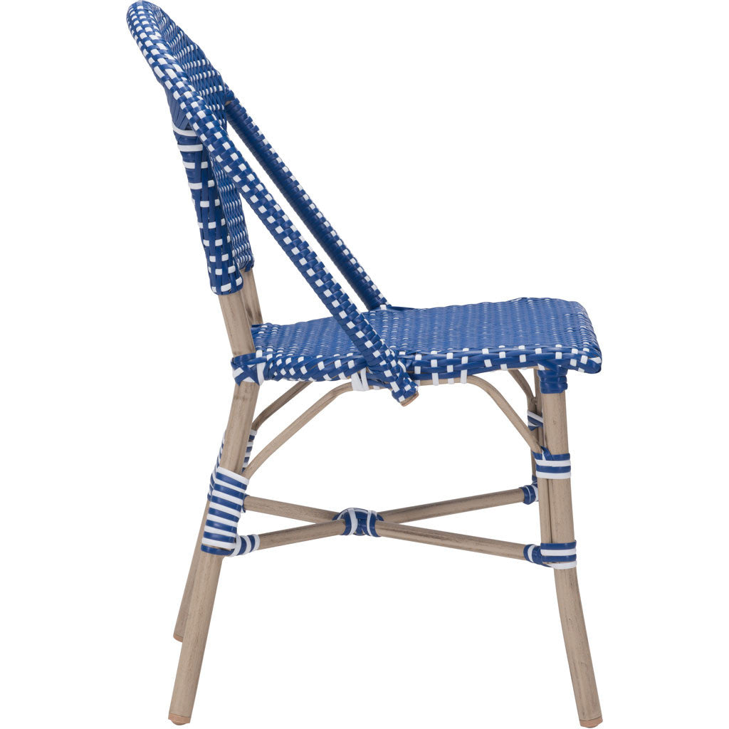 Parisian Dining Chair Navy Blue & White (Set of 2)