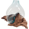 Joy Driftwood Glass Bottle