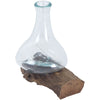 Joy Teak Root/Glass Vessel Tall