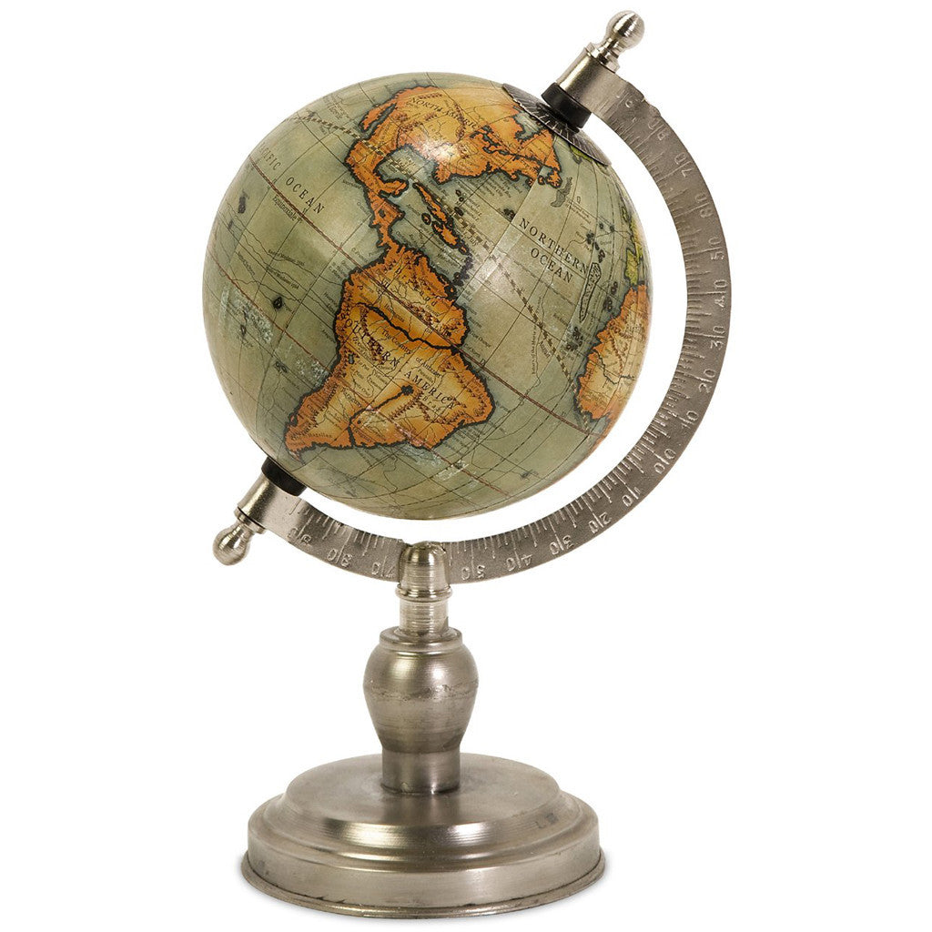 Collier Small Globe With Nickel Finish Base