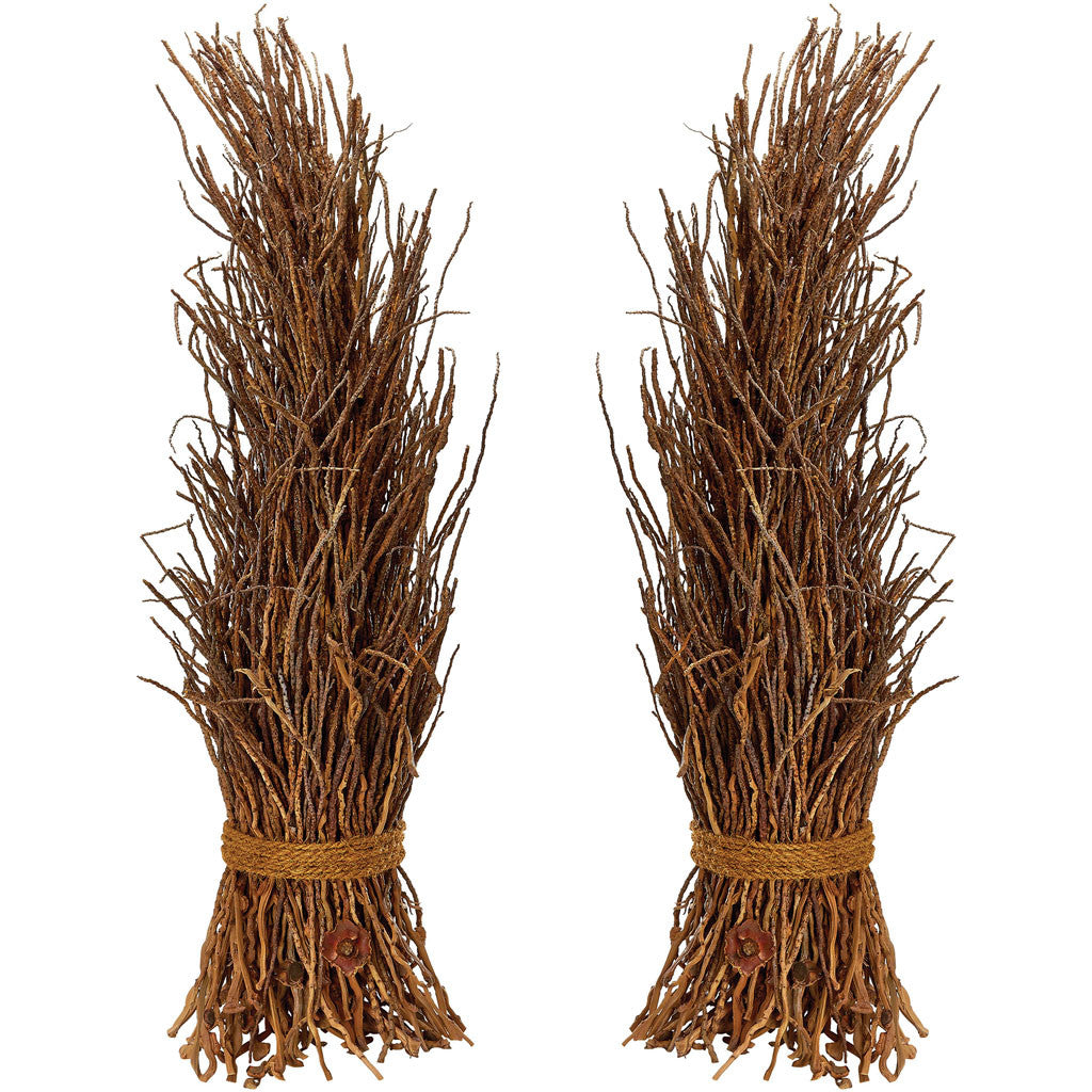 Natural Coco Twig Sheaf (Set of 2)