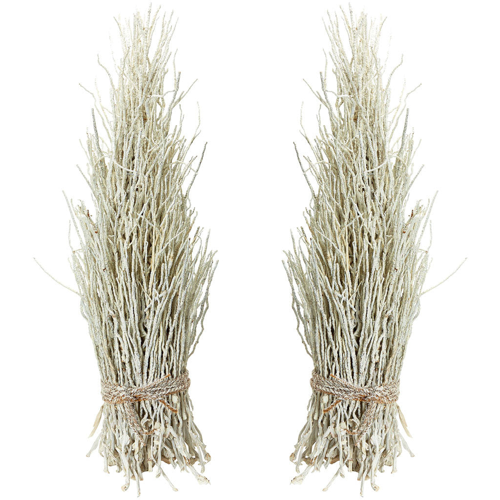 White Washed Coco Twig Sheaf (Set of 2)