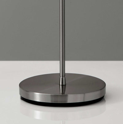 Puteaux Torchiere Brushed Steel