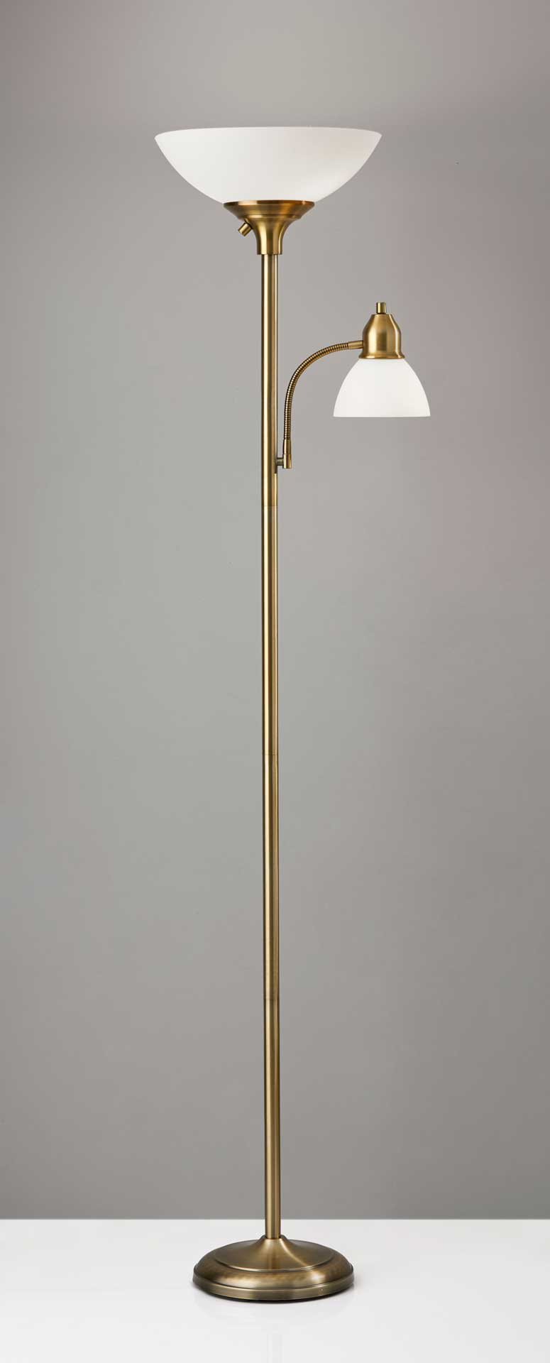 Glostrup Combo Torchiere Brass