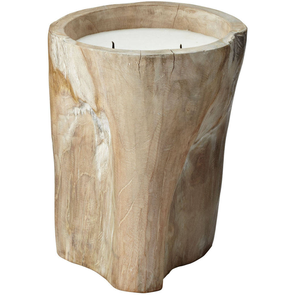 Claus Pepper Log Candle Tall